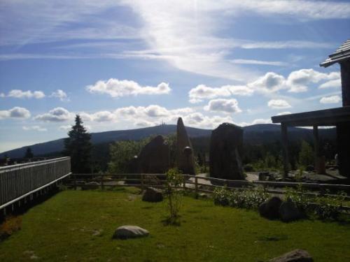 Torfhaus mit Blick zum Brocken