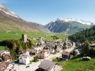 View of the town of Andermatt