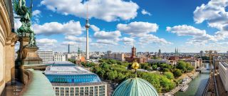 berlin city center seen from the berlin cathedral