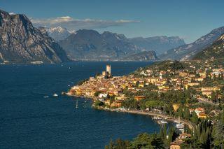 Gardasee: Blick auf Malcesine.